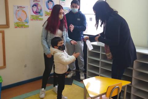 Alumnos de prebásica regresan a clases presenciales en Instituto Don Bosco Punta Arenas