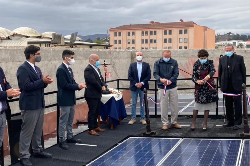 Colegio Salesiano de La Serena inauguró planta fotovoltaica