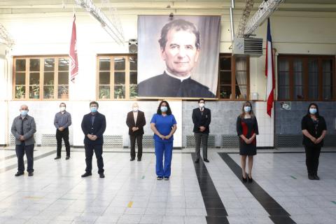 Cuadrilla sanitaria del Instituto Don Bosco de Punta Arenas