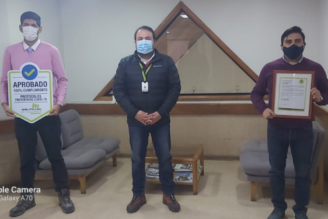 Salesianos Copiapó recibe Sello COVID por cumplimiento de protocolos sanitarios