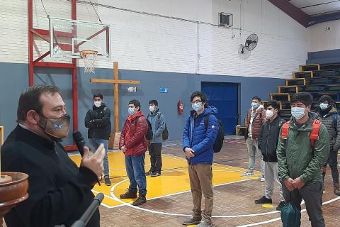 P. Carlo Lira animó a la esperanza y presencialidad en visita inspectorial a Talca