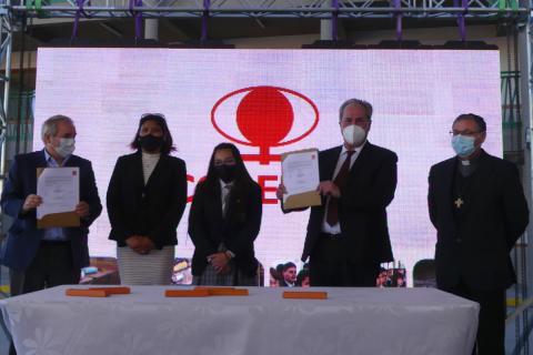 Acuerdos en formación minera y construcción quinta etapa Colegio Don Bosco Calama