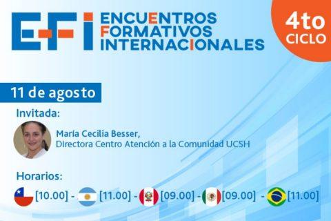 Inscríbete y participa en Encuentros Formativos Internacionales
