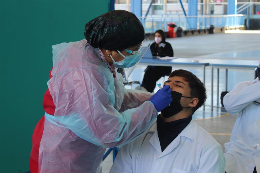 Lanzamiento regional programa testeo asistentes a clases presenciales en Don Bosco Antofagasta