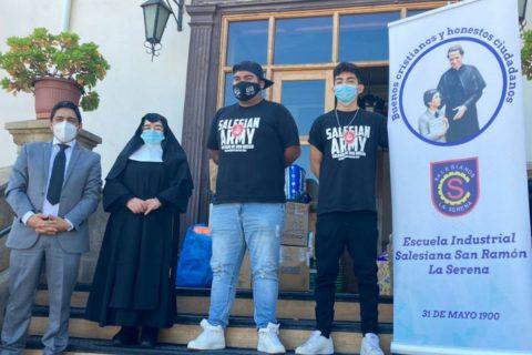 Salesianos La Serena realiza importante donación solidaria