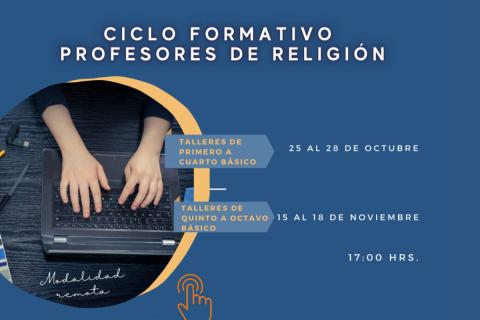 Ciclo Formativo online para profesores de religión